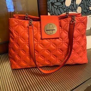 Kate Spade Quilted Coral Handbag